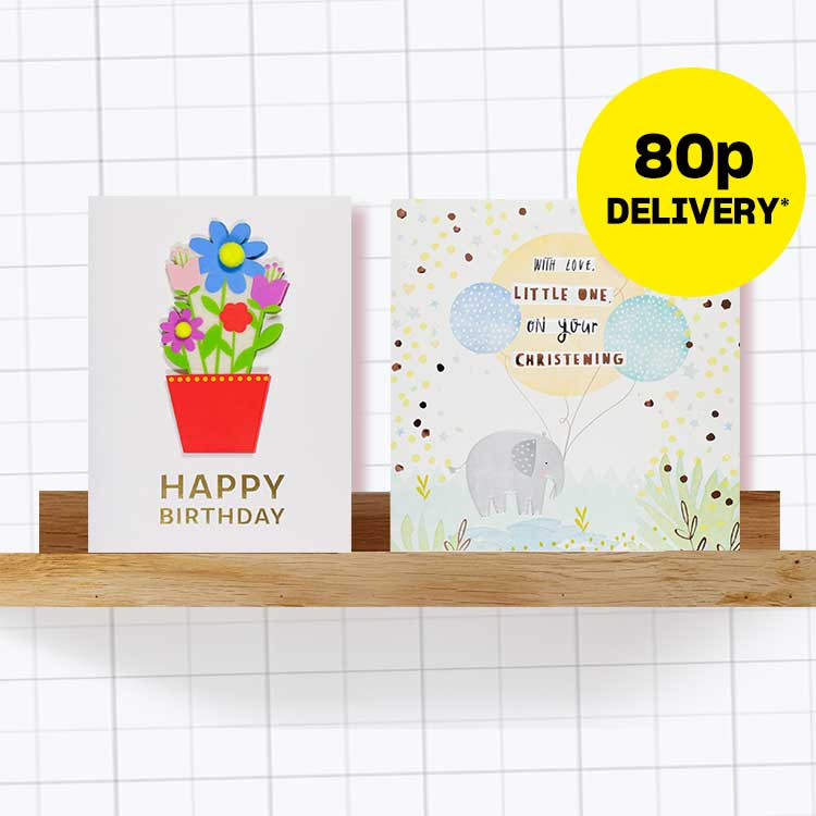 80p card delivery on all cards