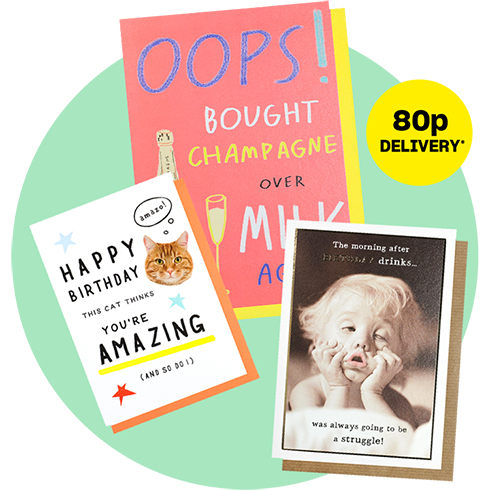 80p delivery on all single cards