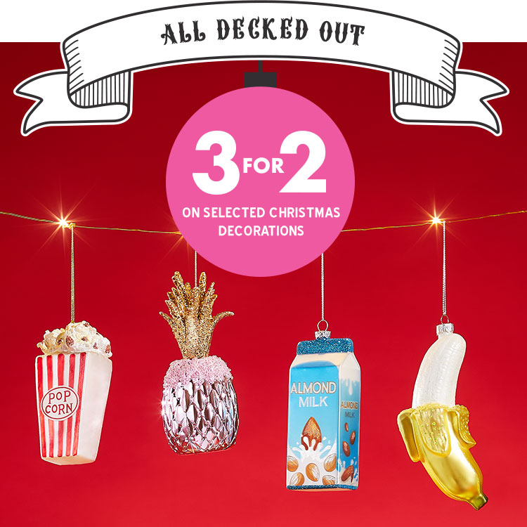3 for 2 Christmas decorations