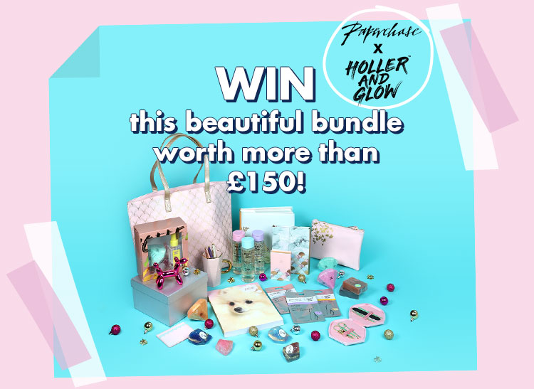 Win all this bundle of Paperchase and Holler & Glow goodies