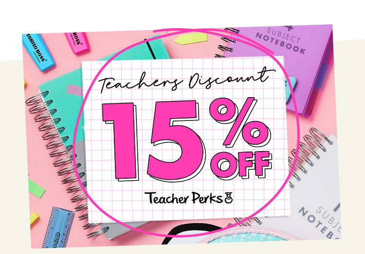 15% Teachers Discount