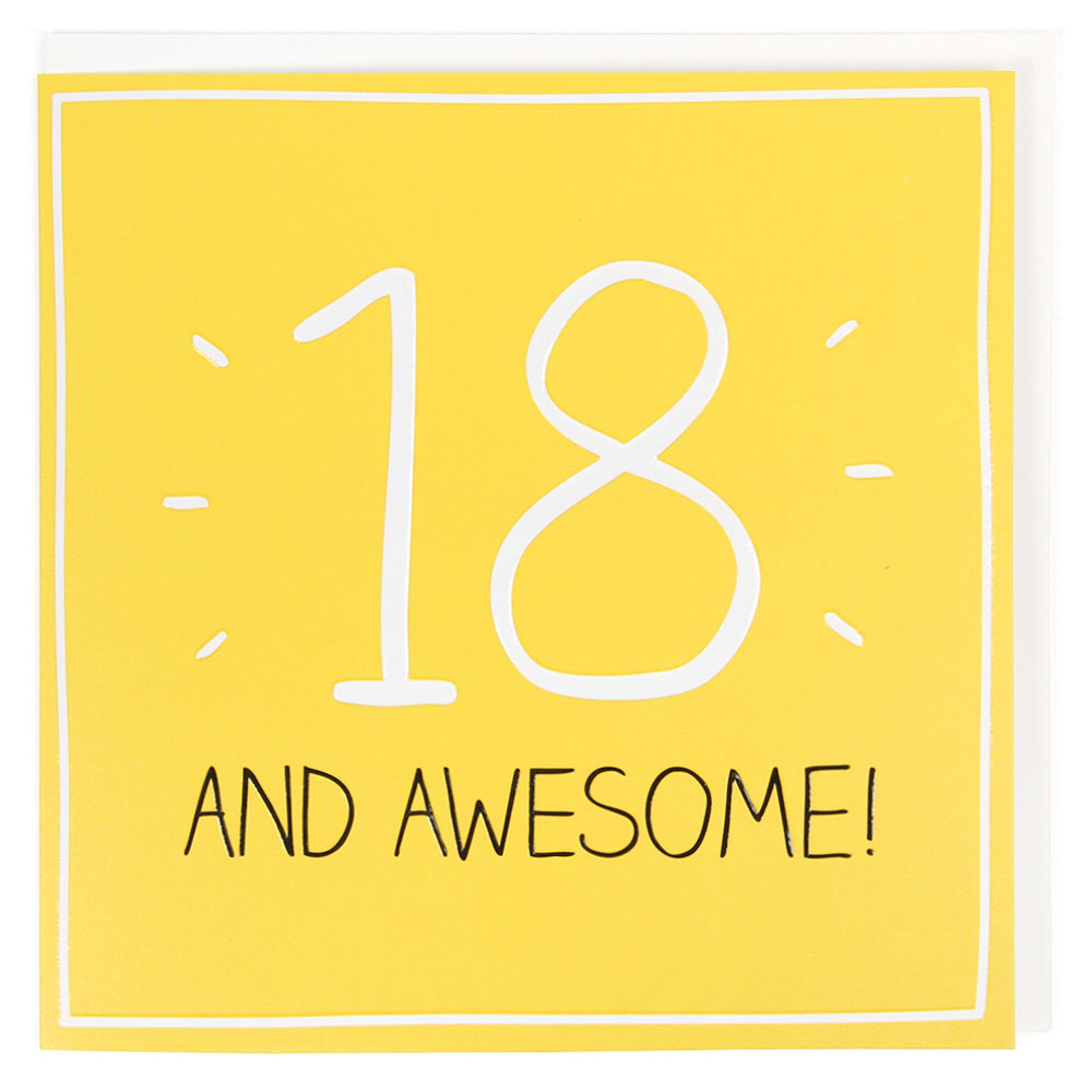 18 and awesome 18th birthday card