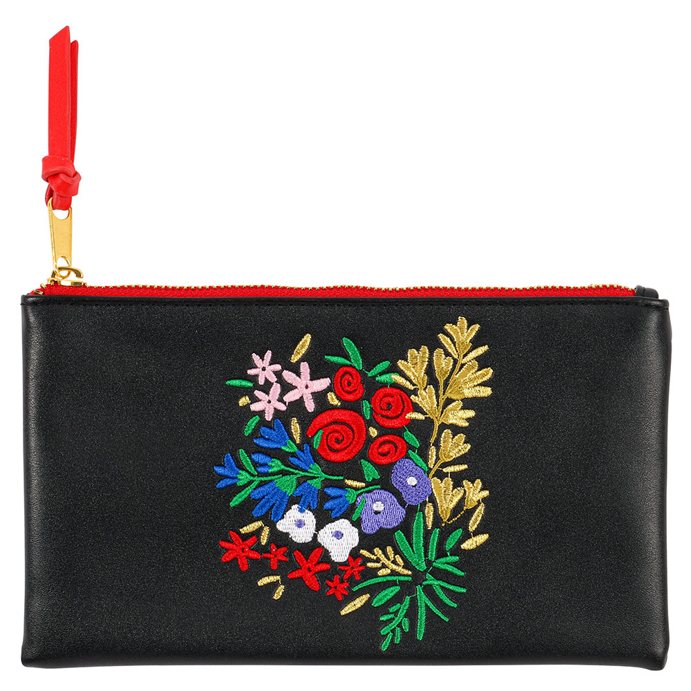 Gifts Floral flat pencil case